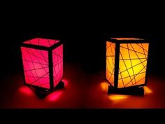 How to make a night lamp - YouTube