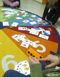 Lukumäärien ja numerosymboleiden harjoittelua toiminnallisesti eskarissa http://www.haaraamo.fi