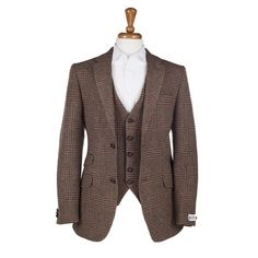 Yorkshire Tweed Patrick Jacket and waiscoat 2 piece - Brown check
