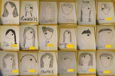 Wonder Drawings {a great art project to compliment the book Wonder}