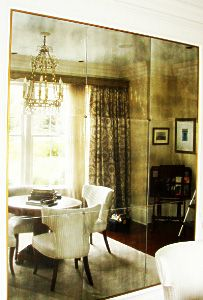 Antiqued Mirror Glass Atlanta   Residential   Wall Hung Inset