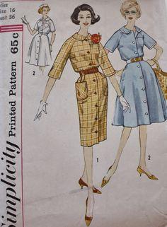 1960s Dress Pattern Simplicity 3795 Raglan by BluetreeSewingStudio, $10.00