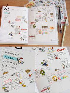 Petit Cochonn Sticker Series Kawaii Korean Planner by TodTots