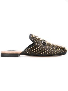 Shop Gucci Princetown studded mules.