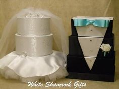 Bride and groom wedding card boxes which are perfect for any wedding!