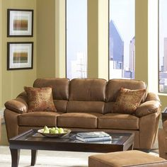 Serta Upholstery  Sofa - Fabric: Laramie Tanner / Verve Spice