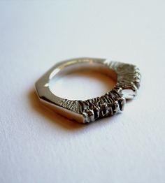 Silver Bear Claw Ring