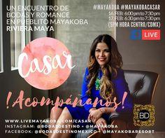 A !CASAR! Acompáñanos mañana en Pueblito @Mayakoba para la #expo boda boutique #Mayakobacasar en @rivieramayamx con visita real o virtual vía FACEBOOK LIVE desde la pagina de FB de @bodasdestino a las 6PM EST/5PM CST; hora de CDMX en http://ift.tt/2kKD0o2  CONOCE MAS: http:/#mayakobacasar/www.livemayakoba.com/casar  TE ACERCAREMOS CON LOS MEJORES... !ADVERTIMOS ALTAS DOSIS DE INSPIRACIÓN! #proveedores #bodas #bodasdestino #romance #hoteles #locacion