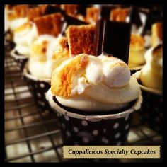S'Mores Cupcakes by Cuppalicious Specialty Cupcakes.