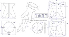 Collapsible stool 2d drawings
