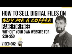 How To Sell Digital Files on Your Buy Me A Coffee Page Without A Website - YouTube Marketing Professional, Business Marketing, Email Marketing, Content Marketing, Online Business, Social Media Digital Marketing, Online Marketing Strategies, Digital Marketing Services, Keep It Cleaner
