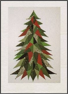 Sage Country Christmas Tree Quilt Pattern (advanced beginner, lap and throw) Christmas Tree Quilt Pattern, Christmas Tree Skirts Patterns, Christmas Quilting, Country Christmas Trees, Noel Christmas, Black Christmas, Simple Christmas, Christmas Stocking, Patchwork Quilting