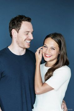 "Michael Fassbender and Alicia Vikander, the stars of Derek Cianfrance's new film, ""The Light Between Oceans,"" in New York, July (Bryan Derballa/The New York Times). Alicia Vikander Style, Michael Fassbender And Alicia Vikander, The Light Between Oceans, Image Film, The Danish Girl, Swedish Girls, Mr Perfect, Cinema, Ex Machina"