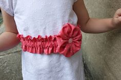 sew easy being green: Gather the Flower Belt Tutorial