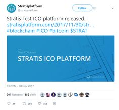 First Look Inside the Stratis ICO Platform  A few days ago we reported on the news that Stratis would be unveiling the test version of the Stratis ICO platform at the blockchain expo in Silicon Valley on November 30. The day came and brought with it an official announcement from the company.  Stratis Twitter announcement  Inside the Stratis ICO Platform  Now join us as we take you on on a step-by-step walkthrough to explore the platform.  Joining the Test ICO  Visithttp://ift.tt/2AN30uuand…