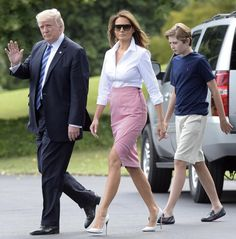 Melania Trump Manolo Blahnik, Victoria Beckham, Lace Skirt, Sequin Skirt, Valentino, Christian Louboutin, Trump Is My President, First Lady Melania Trump, 2017 Photos