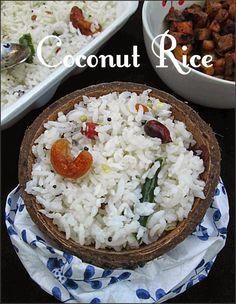 COCONUT RICE / THENGAL SADAM / ONE POT MEAL / LUNCH BOX RECIPE