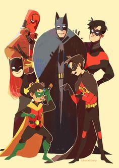 the batfamily by LaWeyD.deviantart.com on @DeviantArt