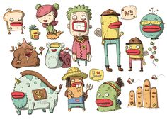 Character Illustrations - Vol 1 on Behance