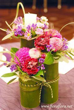 竹をスタイリッシュに使って和装に合う会場装花 *スタイリッシュでセンスのいい会場装花*