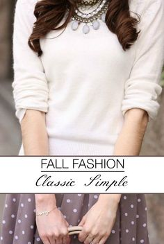 Today starts the fall fashion extravaganza on The Glamorous Housewife. For the next 6 weeks I will be explaining the 6 types of classic women and suggesting items for your fall wardrobe. Enjoy!
