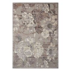 Nourison Graphic Illusions Luxe Floral Rug, Med Grey