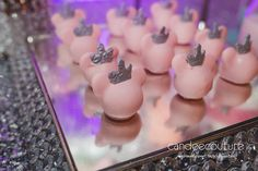 Minnie Mouse Winter Wonderland cake balls by Candee Couture