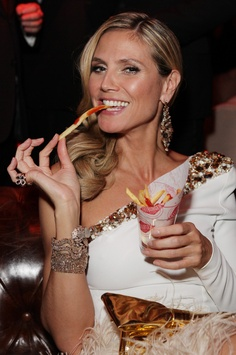 Heidi Klum loves Fatburger skinny fries!