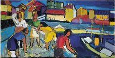 Pierre Ambrogiani, sur le marché, tableau