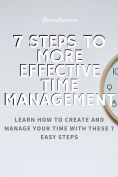 Effective Time Management, Time Management Skills, Self Development, Personal Development, How To Be More Organized, Work Productivity, Grow Together, Work Life Balance, New Hobbies