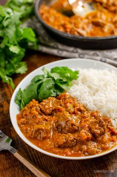 Bombay Beef Curry (Stove Top and Instant Pot) Healthy Beef Recipes, Curry Recipes, Cooking Recipes, Frugal Recipes, Rice Recipes, Meat Recipes, Healthy Meals, Dinner Recipes, Slimming Eats