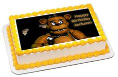 Five Nights at Freddy's 2 Edible Birthday Cake Topper