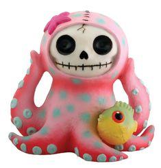 Octopee Octopus Furry Bones Figurine Collectible. #StealStreet. Cute, adorable, pretty, girly, kawaii, skeleton, home, decor, toy, fish, sea creature.