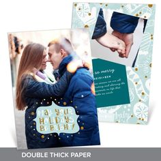 Luxurious double thick paper makes this premium Christmas card worthy of their premium rating. The faux glitter accents give it a festive holiday look, and you'll love how easy it is to personalize! #holiday #ChristmasCards #PremiumCards