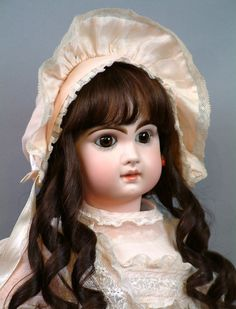"""24"""" French Antique Closed Mouth Tete Jumeau Bebe Doll c1892--Haunting Beauty-WOW"""