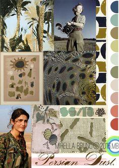 MIRELLA BRUNO - PRINT/GRAPHIC/COLOR INSPIRATIONS . SS 2018 PERSIAN DUST