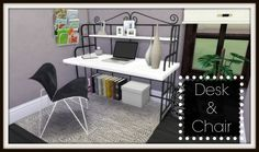 TS2 to TS4 Office: Desk & Chair at Dinha Gamer via Sims 4 Updates