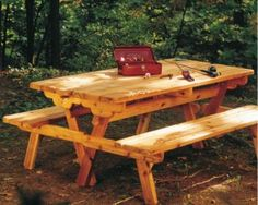 Convertible picnic table plans...picnic table becomes two benches with backs and visa versa