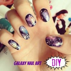 A simple step by step guide to creating your own galaxy nails!
