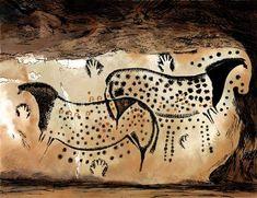 prehistoric cave paintings - Grotte de Peche merle