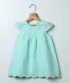 Dainty eyelets, embroidery and a scalloped hem lend vintage-inspired elegance to this charming cotton creation.100% cottonMachine wash; tumble dryImported