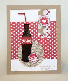 card soft drink cola bottle MFT soda pop bottles Die-namics #mftstamps The Project Bin: Classic Birthday
