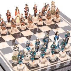 Japanese Samurai Hand Painted Chessmen  Seventh Avenue Carbon Fiber Chess BoardBox with two Drawers *** Read more  at the image link.