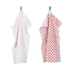 VINTERFEST Dish towel - patterned white/red - IKEA