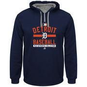 #MLBShop.com - #MLBShop.com Men's Detroit Tigers Majestic Navy Authentic Collection Team Property On Field Therma Base Hoodie - AdoreWe.com