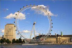London eye-Londres London Eye, Ferris Wheel, Poster, Fair Grounds, India, Travel, Image, London, Colombia