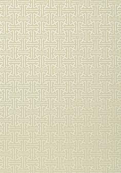 Thibaut Taza Wallpaper, Metallic Gold on Beige