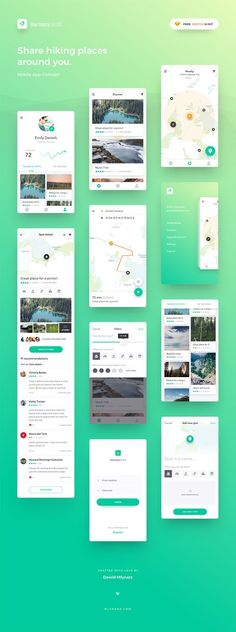 Harmony UI Kit for Sketch – Location-oriented mobile app concept to find, share and rate hiking places around you. It will help you kick start your next map-based application with it's clean and modern look. Harmony includes over 10 iOS ready core screens designed in vector and based on symbols. Free forever. Pay whatever you want to show the support.