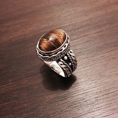 "‼️‼️Beautiful Tigers Eye & Sterling Ring Stamped ""925"".   This is not a stock photo. The image is of the actual article that is being sold  Size: 9.5  Sterling silver is an alloy of silver containing 92.5% by mass of silver and 7.5% by mass of other metals, usually copper. The sterling silver standard has a minimum millesimal fineness of 925.  All my jewelry is solid sterling silver. I do not plate.   Hand crafted in Taxco, Mexico. Great for people who like Silpada or Tiffani. Will ship…"