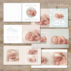 Baby Album Template for Photographers  Baby by SweetLittleMuse